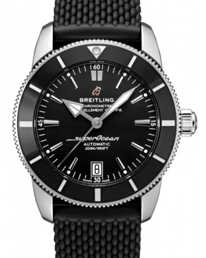 Breitling Superocean Heritage B20 Automatic 42 Black Dial Stainless Steel Rubber Strap AB2010121.B1S1 - BRAND NEW