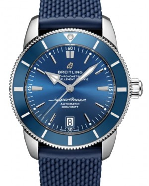 Breitling Superocean Heritage B20 Automatic 42 Stainless Steel Blue Dial & Bezel Rubber Strap AB2010161.C1S1 - BRAND NEW