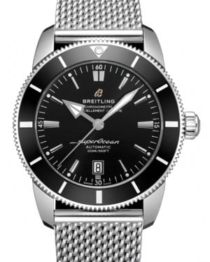 Breitling Superocean Heritage B20 Automatic 46 Black Dial & Bezel Stainless Steel Bracelet AB2020121.B1A1 - BRAND NEW