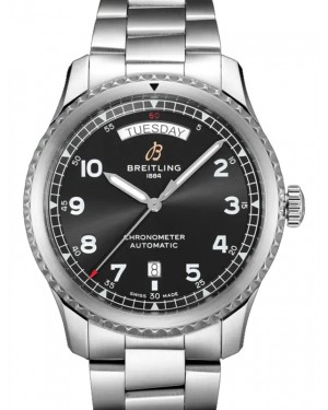 Breitling Superocean Heritage Chronograph 44 Black Dial Stainless Steel Bezel & Bracelet A13313161.B1A1 - BRAND NEW