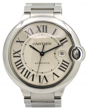 Cartier Ballon Bleu W69012Z4 Silver Opaline Roman 42mm Stainless Steel - PRE-OWNED