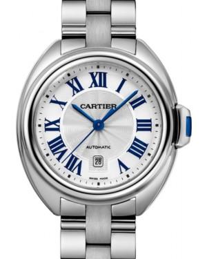 Cartier Cle de Cartier Women's Watch Automatic Stainless Steel 31mm Silver Dial Steel Bracelet WSCL0005 - BRAND NEW