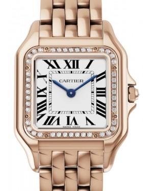 Cartier Panthere de Cartier Women's Watch Medium Quartz Rose Gold Diamonds Silver Dial Rose Gold Bracelet WJPN0009 - BRAND NEW