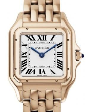 Cartier Panthere de Cartier Women's Watch Medium Quartz Rose Gold Silver Dial Rose Gold Bracelet WGPN0007 - BRAND NEW