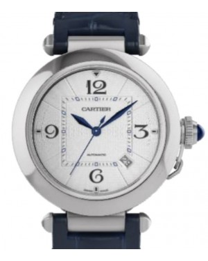 Cartier Pasha De Cartier Automatic Interchangeable Leather Straps Stainless Steel 41mm Silver Dial  Alligator Leather Strap WSPA0010 - BRAND NEW