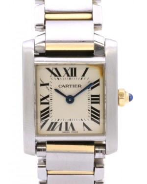 Cartier Tank Francaise Small Model Steel/Yellow Gold Roman Dial Quartz W51007Q4 - PRE-OWNED
