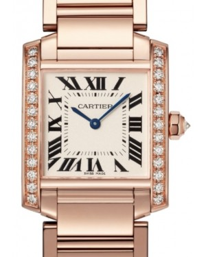 Cartier Tank Francaise Women's Watch Medium Quartz Rose Gold Diamonds Silver Dial Rose Gold Bracelet WJTA0023 - BRAND NEW