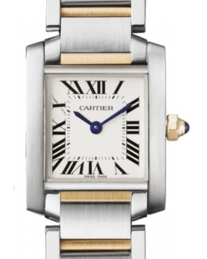 Cartier Tank Francaise Women's Watch Small Quartz Stainless Steel Silver Dial Stainless Steel Yellow Gold Bracelet W51007Q4 - BRAND NEW