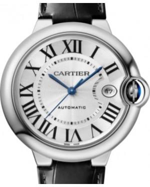 Cartier Ballon Bleu de Cartier Men's Watch Automatic Stainless Steel 40mm Silver Dial Alligator Leather Strap WSBB0039 - BRAND NEW
