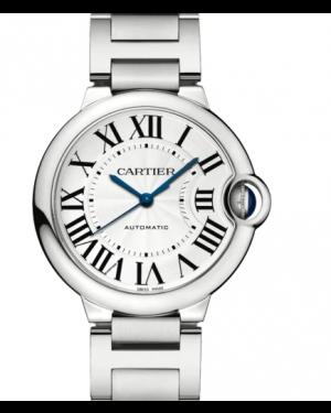 Cartier Ballon Bleu Silver Dial Stainless Steel Bezel & Bracelet W6920046 - BRAND NEW
