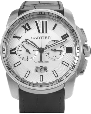 CARTIER W7100046 CALIBRE DE CARTIER CHRONOGRAPH 42mm Stainless Steel BRAND NEW