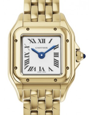 Cartier Panthère de Cartier Women's Watch Mini Quartz Yellow Gold Silver Dial Yellow Gold Bracelet WGPN0016 - BRAND NEW