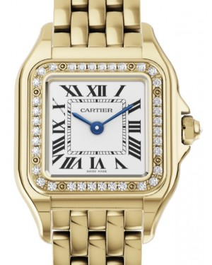 Cartier Panthère de Cartier Women's Watch Small Quartz Yellow Gold Diamonds Silver Dial Yellow Gold Bracelet WJPN0015 - BRAND NEW