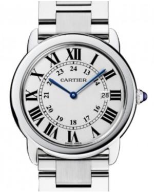 Cartier Ronde Solo de Cartier Men's Watch Quartz Stainless Steel 36mm Silver Dial Steel Bracelet W6701005 - BRAND NEW