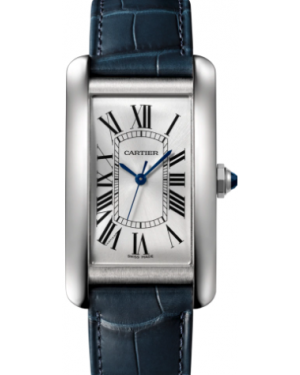 Cartier Tank Américaine Stainless Steel Silver Large Dial Bezel Leather Strap Automatic WSTA0018 - BRAND NEW