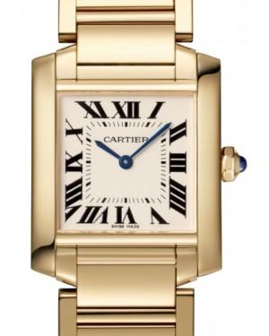 Cartier Tank Francaise Women's Watch Medium Quartz Yellow Gold Silver Dial Yellow Gold Bracelet WGTA0032 - BRAND NEW