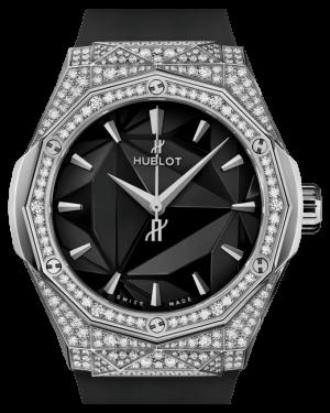 Hublot Classic Fusion Orlinski Titanium Pavé Black 40mm Dial Dimond Bezel Rubber Strap 550.NS.1800.RX.1604.ORL19 - BRAND NEW