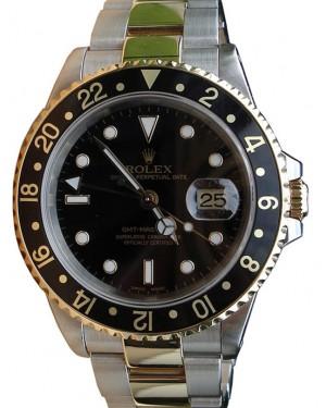 Rolex GMT-Master II 16713 Men's 40mm Black 18k Yellow Gold Stainless Steel