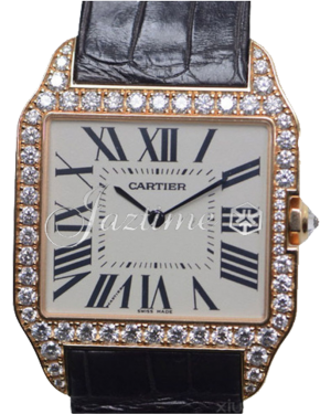 CARTIER WH100751 SANTOS DUMONT PINK GOLD AND DIAMONDS BRAND NEW