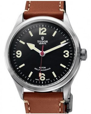 Tudor Heritage Ranger 79910 Black Arabic & Index Stainless Steel & Leather 41mm BRAND NEW