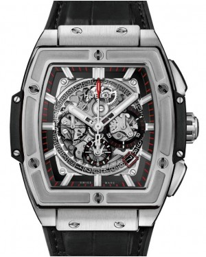 Hublot Spirit Of Big Bang Titanium Black 601.NX.0173.LR Skeleton Index Titanium Leather 45mm - BRAND NEW