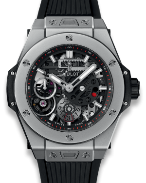 Hublot Big Bang MECA-10 Black Skeleton Dial Titanium Bezel Rubber Strap 45mm 414.NI.1123.RX - BRAND NEW