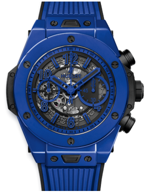 Hublot Big Bang Unico Blue Magic Blue Skeleton Dial & Ceramic Bezel Rubber Strap 45mm 411.ES.5119.RX - BRAND NEW