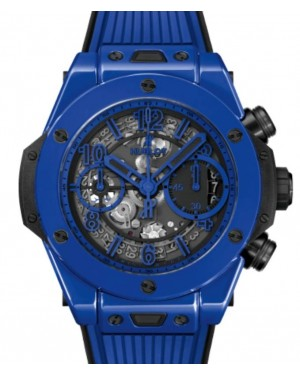 Hublot Big Bang Unico Chronograph Blue Magic Ceramic 42mm Skeleton Dial Rubber Strap 441.ES.5119.RX - BRAND NEW