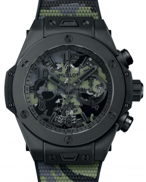 Hublot Big Bang Unico Camo Yohji Yamamoto Microblasted & Polished Black Ceramic Sapphire 45mm Dial Rubber Strap  411.CI.0114.RX.YOY20 - BRAND NEW