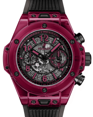 Hublot Big Bang Unico Red Sapphire Crystal Skeleton 45mm Dial Bezel Rubber Strap 45mm 411.JR.4901.RT - BRAND NEW
