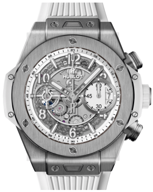 Hublot Big Bang Unico Titanium White Skeleton 42mm Dial Titanium Bezel Rubber Strap 441.NE.2010.RW - BRAND NEW