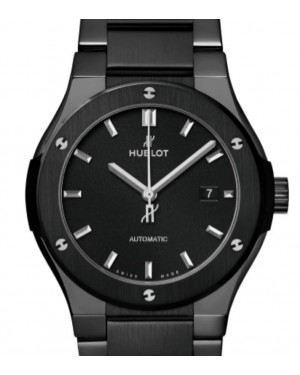 Hublot Classic Fusion 3-Hands Black Magic Bracelet Ceramic 42mm Black Dial Ceramic Bracelet 548.CM.1170.CM - BRAND NEW