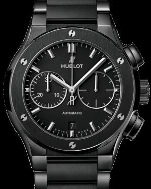 Hublot Classic Fusion Chronograph Black Magic Bracelet Ceramic 45mm Black Dial Ceramic Bracelet 520.CM.1170.CM - BRAND NEW