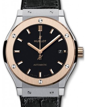 Hublot Classic Fusion 3-Hands Titanium King Gold 45mm Black Dial Rubber and Alligator Leather Straps 511.NO.1181.LR - BRAND NEW