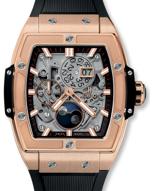 Hublot Spirit Of Big Bang Moonphase King Gold Skeleton Dial Rose Gold Bezel Leather Strap 42mm 647.OX.1138.RX - BRAND NEW