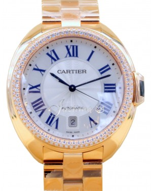 Cartier Cle De Cartier WJCL0009 Men's 40mm Diamond 18k Rose Gold BRAND NEW