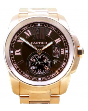 Cartier Calibre De Cartier W7100040 Automatic Men's 18k Rose Gold - BRAND NEW