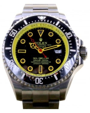 Rolex Deepsea PVD DLC Coated Stainless Steel Yellow Black Dial & Ceramic Bezel Oyster Bracelet 126660 - BRAND NEW