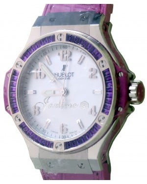 Hublot Big Bang Tutti Frutti 361.SV.6010.LR.1905 Ladies Mother Of Pearl Dial Amethyst Bezel BRAND NEW