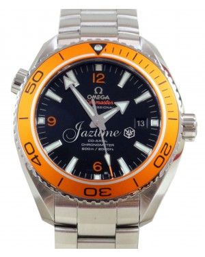 Omega 232.30.46.21.01.002 Planet Ocean 600M Co-Axial 45.5mm Orange Black Stainless Steel BRAND NEW