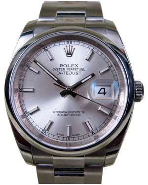 Rolex Datejust 116200 Index Silver Dial Stainless Steel 36mm Oyster