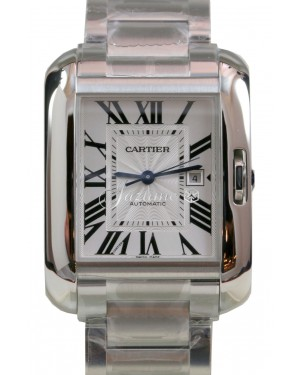 Cartier Tank Anglaise Stainless Steel Automatic Date W5310009 BRAND NEW