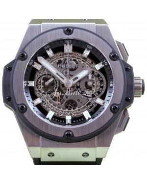 Hublot King Power Unico Skeleton Dial Titanium Bezel Rubber Strap 48mm 701.NX.0170.RX - BRAND NEW