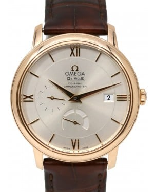 Omega De Ville 424.53.40.21.02.001 Prestige Deville Co-Axial Red Gold Leather 39.5mm BOX PAPERS
