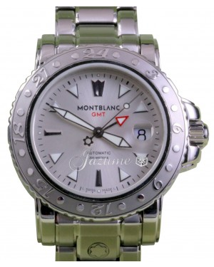 MontBlanc XL GMT 8469 Men's 41mm Stainless Steel Silver