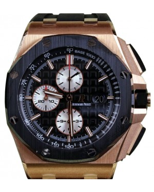 Audemars Piguet 26401RO.OO.A002CA.01 Royal Oak Offshore Chronograph 44mm Black Rose Gold Black Ceramic BRAND NEW