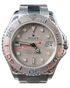 Rolex Ladies Yachtmaster 168622 Ladies Midsize 35mm Platinum Stainless Steel Oyster Perpetual