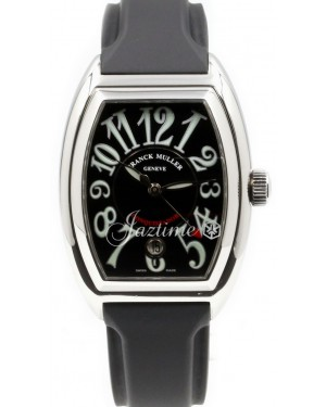 Franck Muller Conquistador 8001 SC Men's 40mm Black Stainless Steel Rubber PRE-OWNED