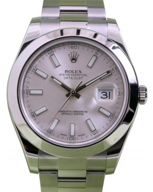 Rolex Datejust II 116300 Index Silver 41mm Stainless Steel BRAND NEW