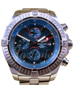 Breitling Super Avenger A13370 Men's 48mm Blue Baton Stainless Steel
